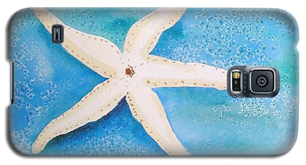Galaxy S5 Case featuring the painting White Starfish by Patricia Piffath