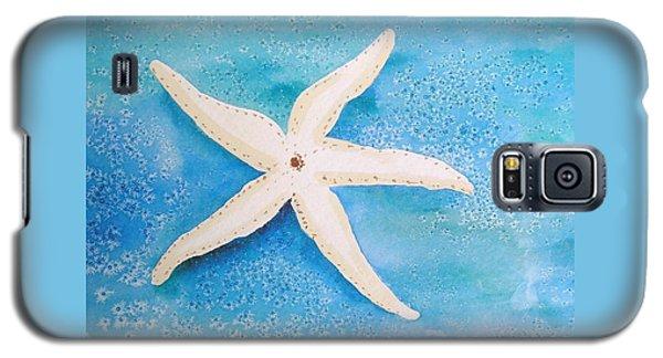 White Starfish Galaxy S5 Case by Patricia Piffath