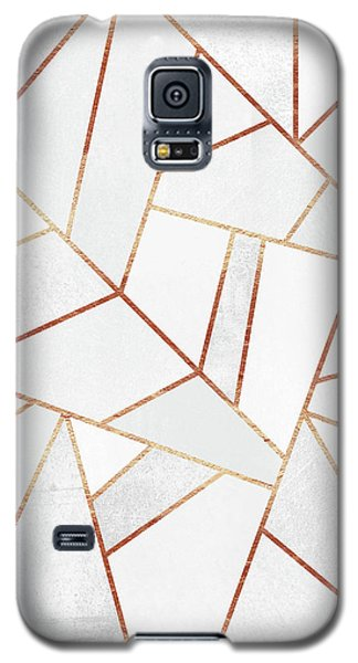 White Stone And Copper Lines Galaxy S5 Case by Elisabeth Fredriksson