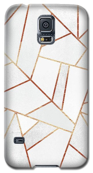 White Stone And Copper Lines Galaxy S5 Case