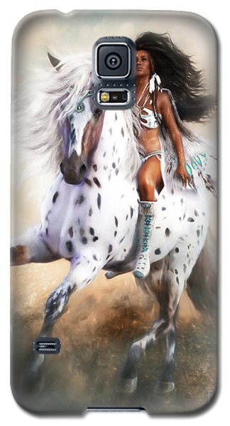 Galaxy S5 Case featuring the digital art White Storm by Shanina Conway