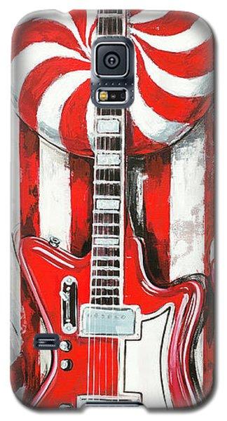 White Stripes Guitar Galaxy S5 Case