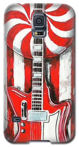 White Stripes Guitar Galaxy S5 Case