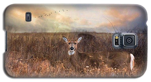 Galaxy S5 Case featuring the photograph White Tail by Robin-lee Vieira