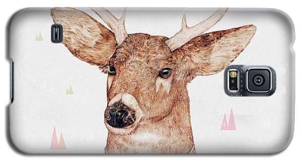 White Tailed Deer Square Galaxy S5 Case by Animal Crew