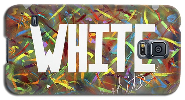 Galaxy S5 Case featuring the painting White by Thomas Blood