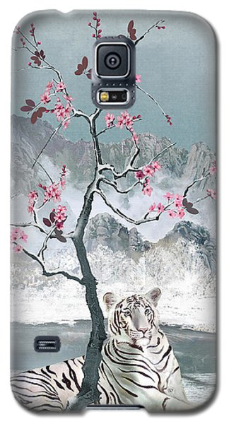 White Tiger And Plum Tree Galaxy S5 Case