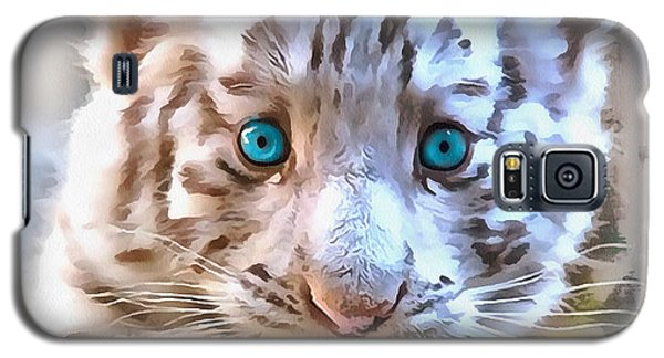 White Tiger Cub Galaxy S5 Case by Sergey Lukashin
