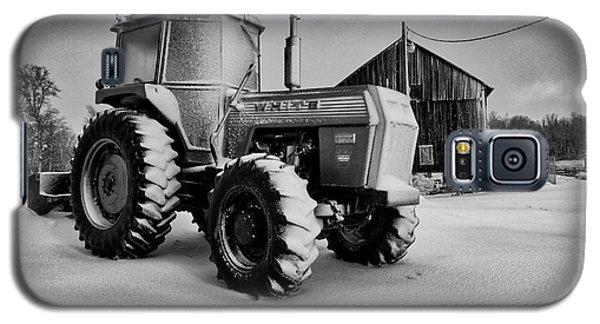White Tractor Galaxy S5 Case