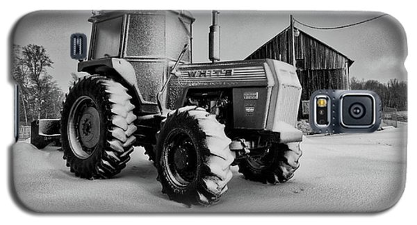 White Tractor Galaxy S5 Case
