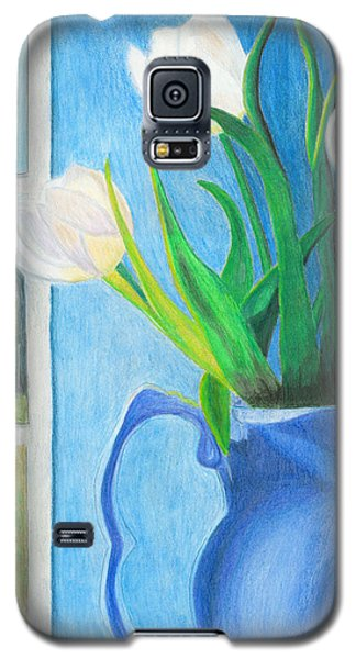 White Tulips Galaxy S5 Case