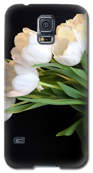 White Tulips In Blue Vase Galaxy S5 Case