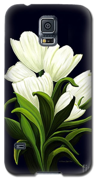 Galaxy S5 Case featuring the painting White Tulips by Patricia Griffin Brett