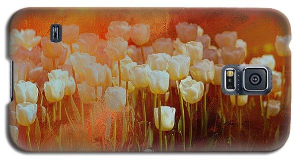 White Tulips Galaxy S5 Case
