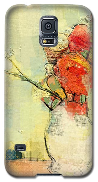 White Vase Galaxy S5 Case by Carrie Joy Byrnes