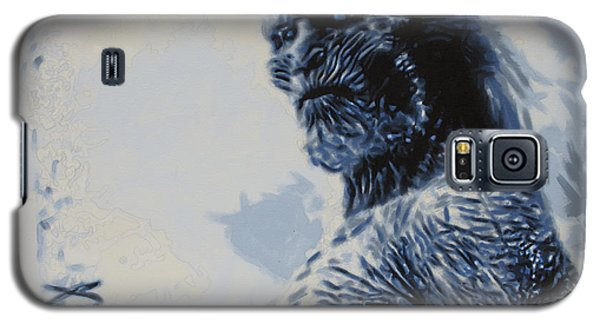 Galaxy S5 Case featuring the painting White Walker by Luis Ludzska