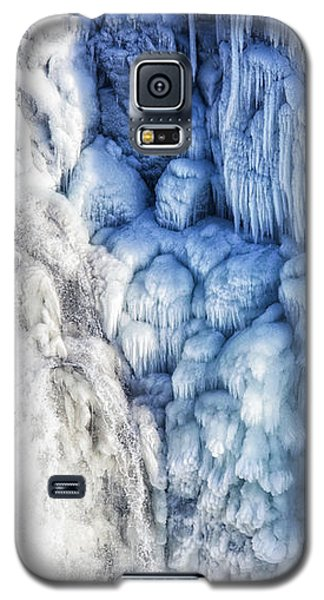 White Water And Blue Ice Gullfoss Waterfall Iceland Galaxy S5 Case by Matthias Hauser