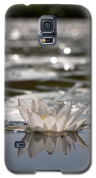 Galaxy S5 Case featuring the photograph White Waterlily 3 by Jouko Lehto