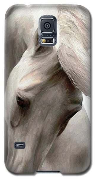 Galaxy S5 Case featuring the painting White Whisper by James Shepherd