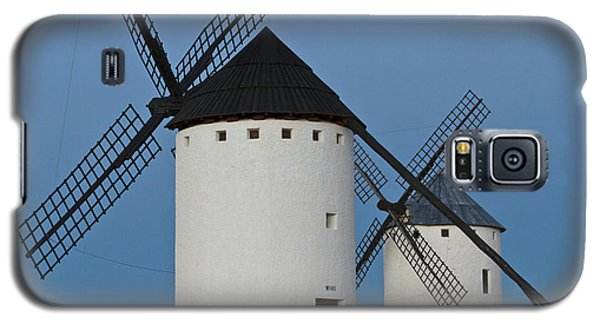 Galaxy S5 Case featuring the photograph White Windmills by Heiko Koehrer-Wagner