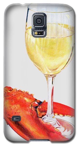 White Wine And Lobster Claw Galaxy S5 Case