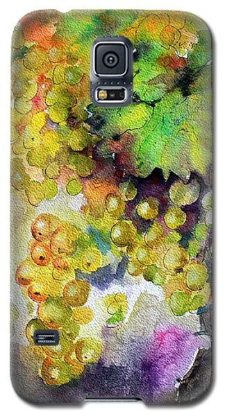 White Wine Grapes Vineyard Watercolor Painting Galaxy S5 Case