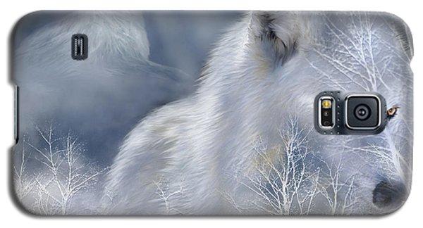 White Wolf Galaxy S5 Case by Carol Cavalaris