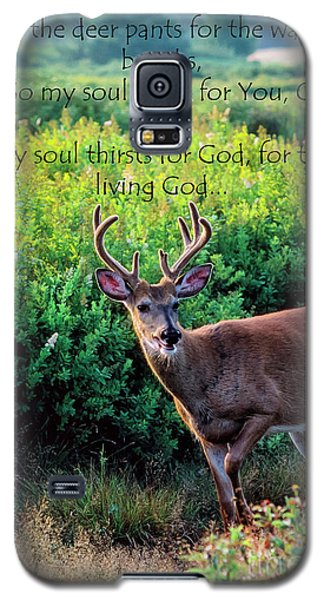 Galaxy S5 Case featuring the photograph Whitetail Deer Panting by Thomas R Fletcher