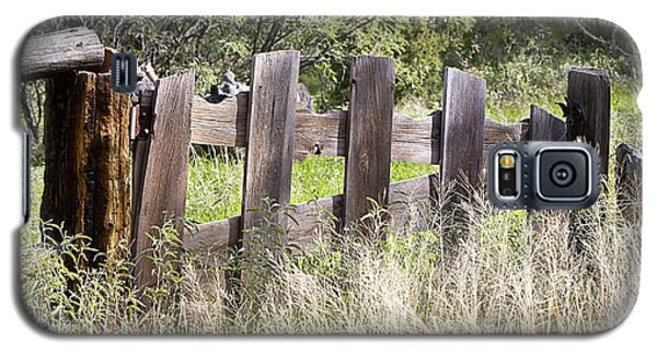 Galaxy S5 Case featuring the photograph Who Ate The Fence by Phyllis Denton