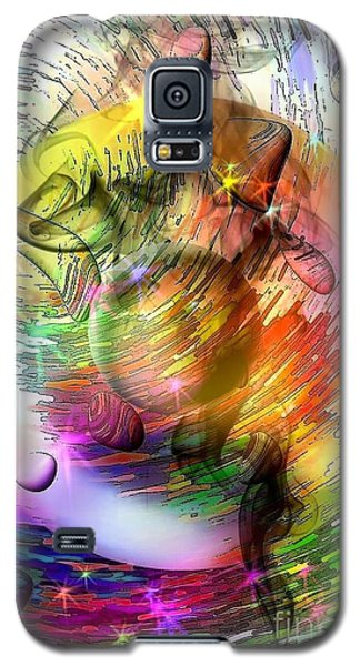 Galaxy S5 Case featuring the digital art who is already looking into the future by Nicobielow by Nico Bielow