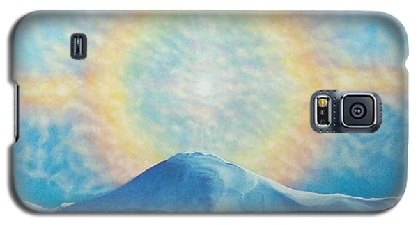 Who Makes The Clouds His Chariot Fire Rainbow Over Alberta Peak Galaxy S5 Case