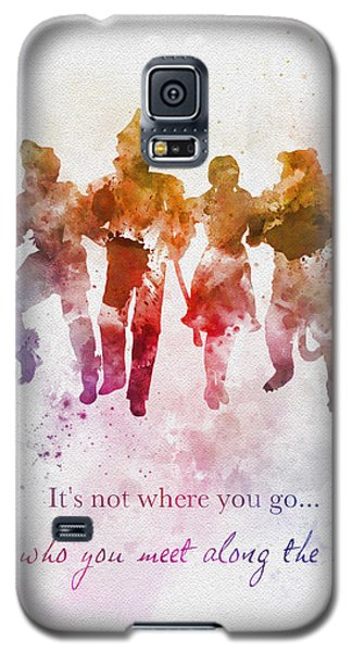 Wizard Galaxy S5 Case - Who You Meet Along The Way by Rebecca Jenkins