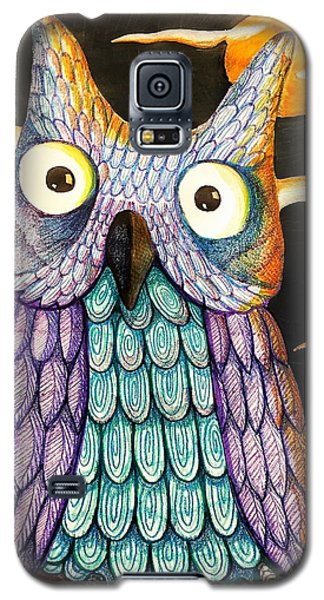 Galaxy S5 Case featuring the drawing Whom? by Jame Hayes
