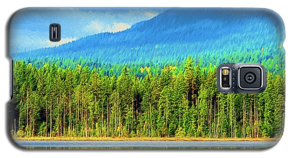 Galaxy S5 Case featuring the photograph Whonnock Lake Mountain Photo Art by Sharon Talson