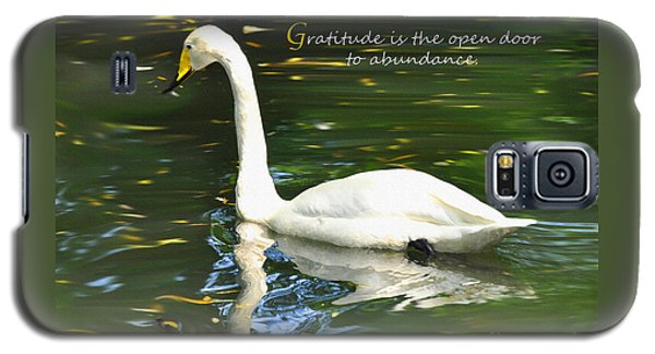 Galaxy S5 Case featuring the painting Whooper Swan Gratitude by Diane E Berry