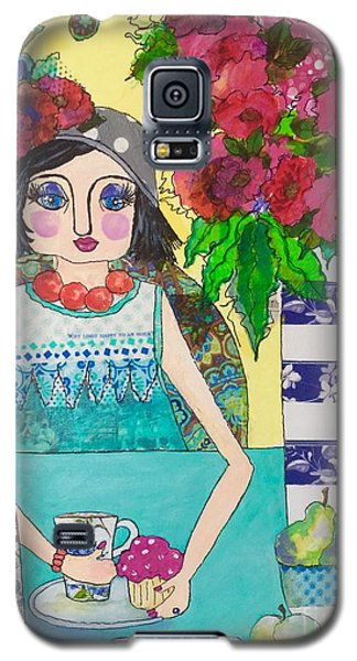 Galaxy S5 Case featuring the mixed media Why Limit Happy To A Hour by Rosemary Aubut