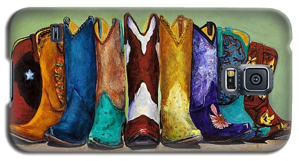 Galaxy S5 Case featuring the painting Why Real Men Want To Be Cowboys by Frances Marino