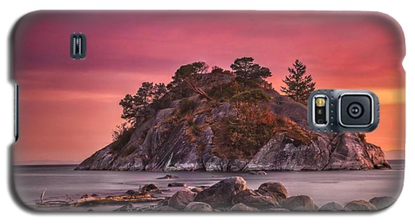 Galaxy S5 Case featuring the photograph Whytecliff Island Sunset by Jacqui Boonstra