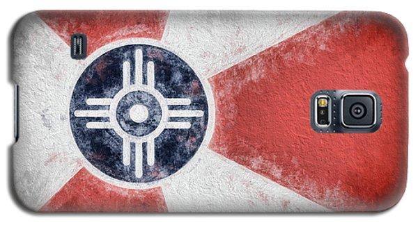 Galaxy S5 Case featuring the digital art Wichita City Flag by JC Findley