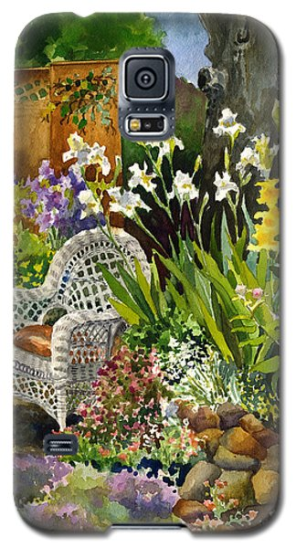 Galaxy S5 Case featuring the painting Wicker Chair by Anne Gifford