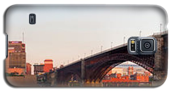 Wide View Of St Louis And Eads Bridge Galaxy S5 Case