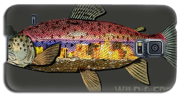 Wild And Free In Anchorage-trout With Hat Galaxy S5 Case by Elaine Ossipov
