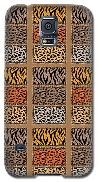 Wild Cats Patchwork Galaxy S5 Case