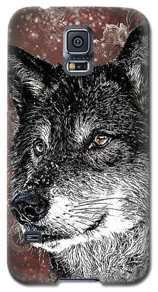 Wild Dark Wolf Galaxy S5 Case