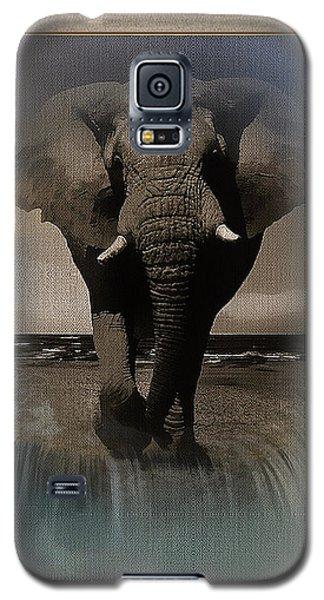 Wild Elephant Montage Galaxy S5 Case
