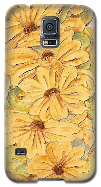 Wild Flower Abstract Galaxy S5 Case by Theresa Marie Johnson