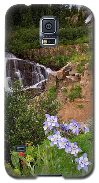 Wild Flowers And Waterfalls Galaxy S5 Case