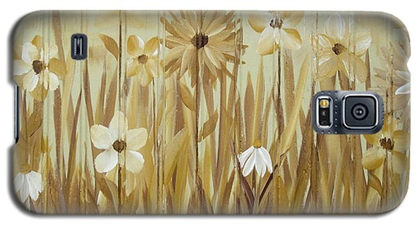 Galaxy S5 Case featuring the painting Wild Flowers by Kathy Sheeran