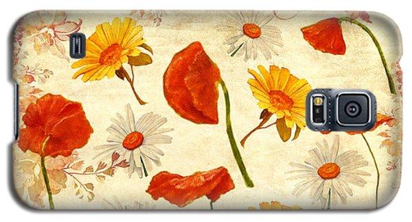 Wild Flowers Vintage Galaxy S5 Case