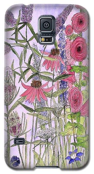 Wild Garden Flowers Galaxy S5 Case